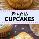 These funfetti cupcakes are the ultimate treat for birthdays and celebrations. Light and fluffy, filled with sprinkles and piled high with frosting - this recipe is way better than any boxed mix!