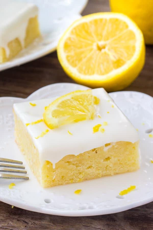 Lemon brownies - also knows as lemonies or lemon blondies are fudgy lemon bars with a sweet lemon cream cheese icing.