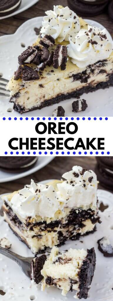 If you're looking for the perfect Oreo cheesecake recipe - then look no further. With a crunchy Oreo cookie crust, smooth and creamy cheesecake, and tons of Oreo pieces - this cheesecake is an Oreo lover's dream come true.