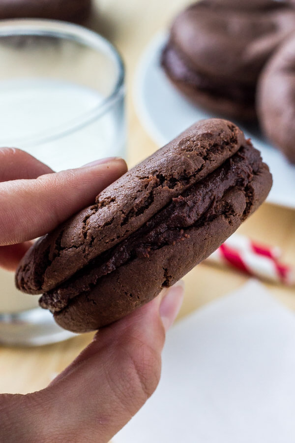 Chocolate cookies with chocolate frosting