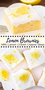 Lemon brownies are insanely delicious fudgy lemon bars with a sweet lemon cream cheese glaze. They're sometimes called lemonies or lemon blondies - but either way they mean delicious.#lemon #lemonies #blondies #brownies #lemonbars #lemonbrownies #recipes