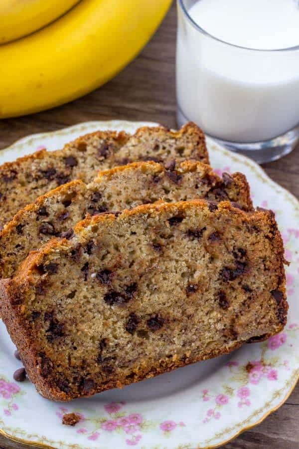 Chocolate Chip Banana Bread - flavorful, extra moist banana bread recipe