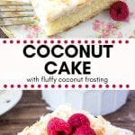 This easy homemade coconut cake is moist, tender and filled with real coconut flavor. Then it's topped with fluffy coconut frosting and even more toasted coconut. Coconut lovers will rejoice over this tropical cake with real coconut flavor.