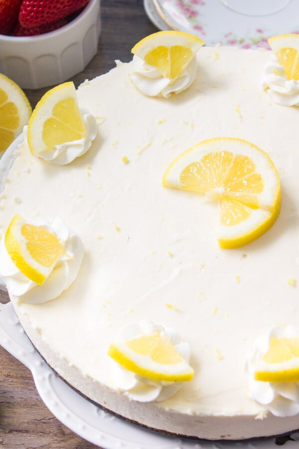 No Bake Lemon Cheesecake Recipe - smooth, creamy and filled with real lemons