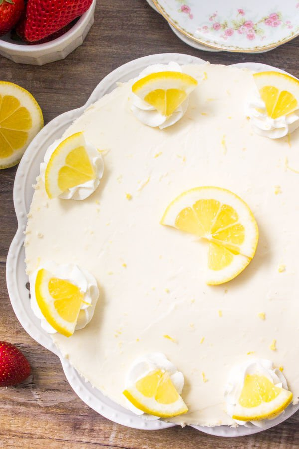 No Bake Lemon Cheesecake Recipe - the perfect summer cheesecake