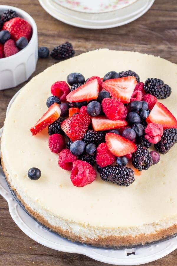 New York Cheesecake Recipe - smooth, creamy and oh so delicious.