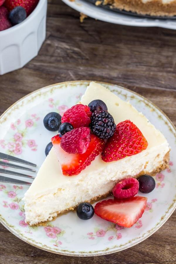 Classic cheesecake that's smooth, creamy, and turns out perfectly every time.