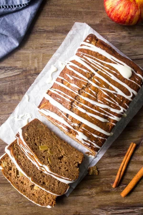 Applesauce bread is moist & tender with a delicious cinnamon apple flavor.