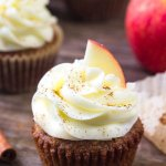 Apple cupcakes with cream cheese frosting have warm spices, grated apple and deliciously tangy cream cheese frosting.