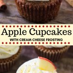 Apple cupcakes with cream cheese frosting have warm spices, grated apple and deliciously tangy cream cheese frosting. Easy, from scratch & perfect for fall - add these apple cupcakes to your baking list! #apples #applecupcakes #spicecake #fallrecipes #recipes