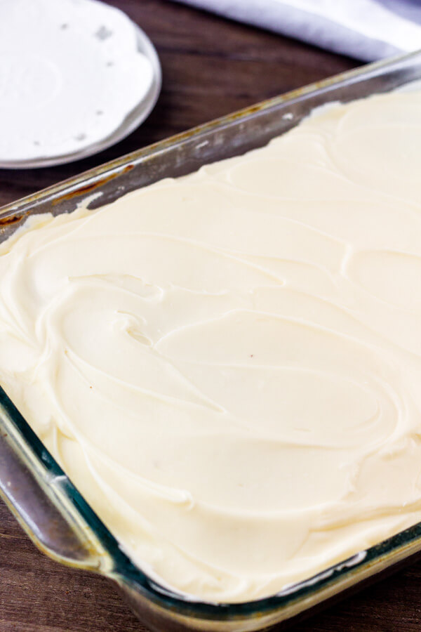 The best banana cake recipe is so moist, easy to make & topped with a thick layer of cream cheese icing.