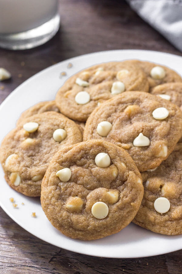 These white chocolate chip cookies are extra soft, super chewy, and filled with delicious white chocolate in every bite.