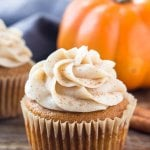 These pumpkin cupcakes with cinnamon cream cheese frosting are the only pumpkin cupcake recipe you need. They're moist, extra soft, filled with pumpkin spice and topped with the fluffiest, creamiest frosting around.