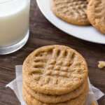 3 ingredient peanut butter cookies are soft, chewy & filled with big peanut butter flavor. They taste just as delicious as classic peanut butter cookies - only they take way less effort to make.