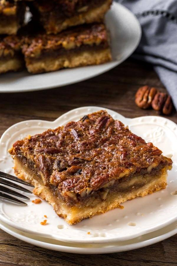 Pecan pie bars are even easier than making classic pecan pie and just as delicious.