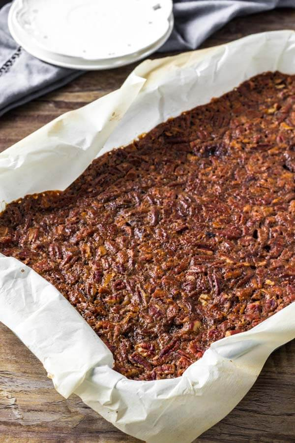Pecan Pie Bars Recipe - even easier than making traditional pecan pie.