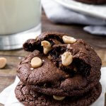 Dark Chocolate Caramel Cookies – with Salted Caramel Chips