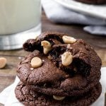 Dark Chocolate Caramel Cookies - with Salted Caramel Chips