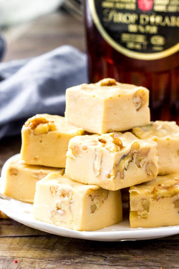 Maple Fudge Recipe - made with only 4 ingredients.