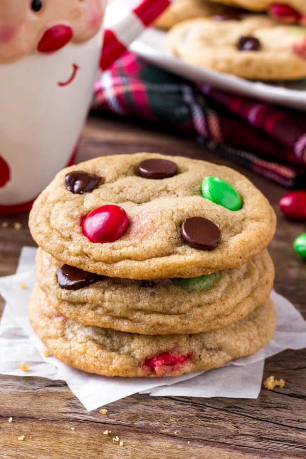 Christmas M M Cookies Just So Tasty