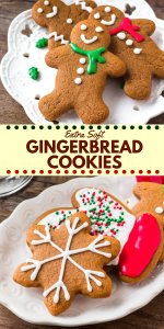 These soft gingerbread cookies are a must for the holidays. They're perfectly spiced with soft centers and the perfect gingerbread taste. The best gingerbread men I've ever tried! #gingerbread #gingerbreadmen #christmas #baking #holidays #cookieexchange #gingerbreadcookies