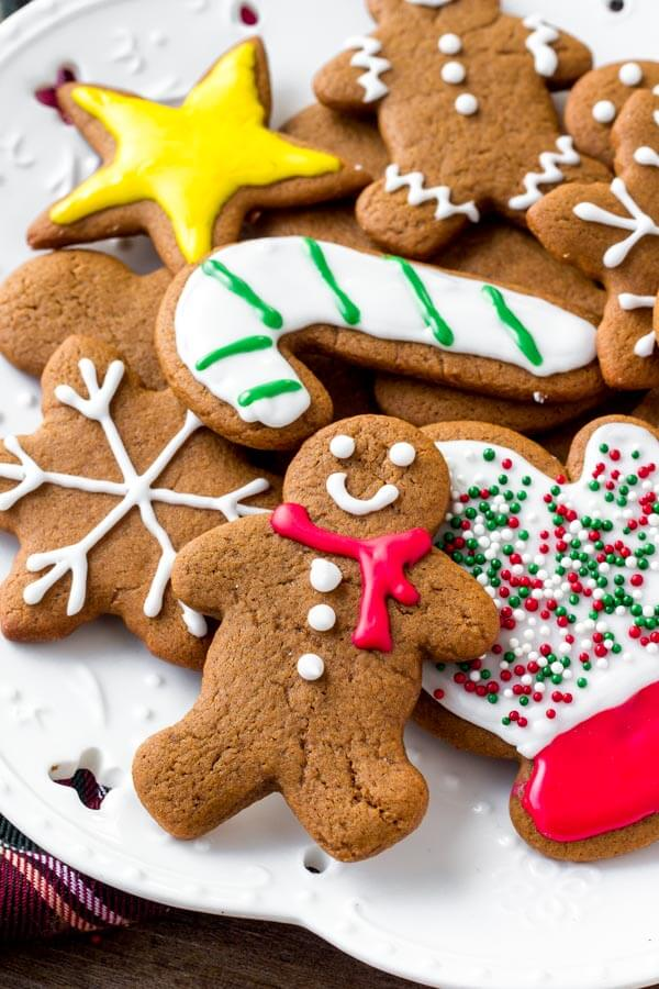 These soft gingerbread cookies are a must for the holidays. They're perfectly spiced with soft centers and the perfect gingerbread taste