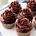 Chocolate cream cheese frosting is thick, creamy, silky smooth, and not too sweet Pipes beautifully on cupcakes & cakes