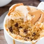 Peanut butter mug cake is moist, tender & ready in under 5 minutes.