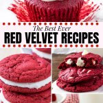 In this guide to red velvet cake I'm sharing tons of details about the history, origins & delicious characteristics of red velvet, along with all my favorite red velvet recipes. Red velvet cakes & cupcakes, red velvet cookies, tons of out of the box red velvet treats, and everything in between.#redvelvet #recipes #valentines #christmas #redvelvetcake #cupcakes
