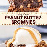 These fudgy, gooey peanut butter brownies have a delicious chocolate peanut butter flavor. We're mixing peanut butter into the brownie batter and filling them with peanut butter chips for a double dose of peanut butter goodness.#brownies #peanutbutter #peanutbutterbrownies #easy #recipes #chocolate