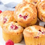 Raspberry Muffins - Perfectly Fluffy & Filled with Juicy Berries