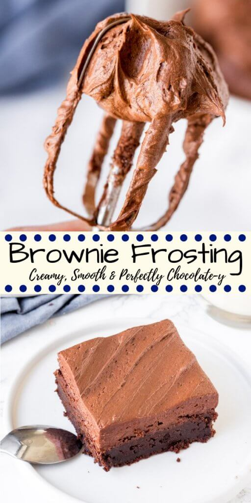 Looking for the perfect chocolate frosting for brownies? Then look no further! This brownie frosting is creamy, extra smooth, perfectly chocolatey and designed specifically for brownies.#brownies #frosting #browniefrosting #homemade #chocolate #buttercream #icing
