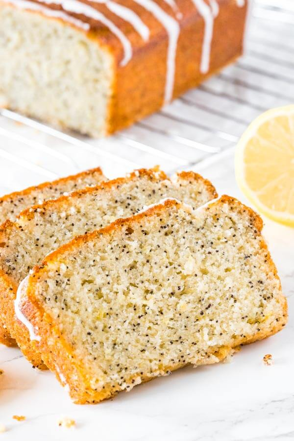 This lemon poppy seed bread is moist