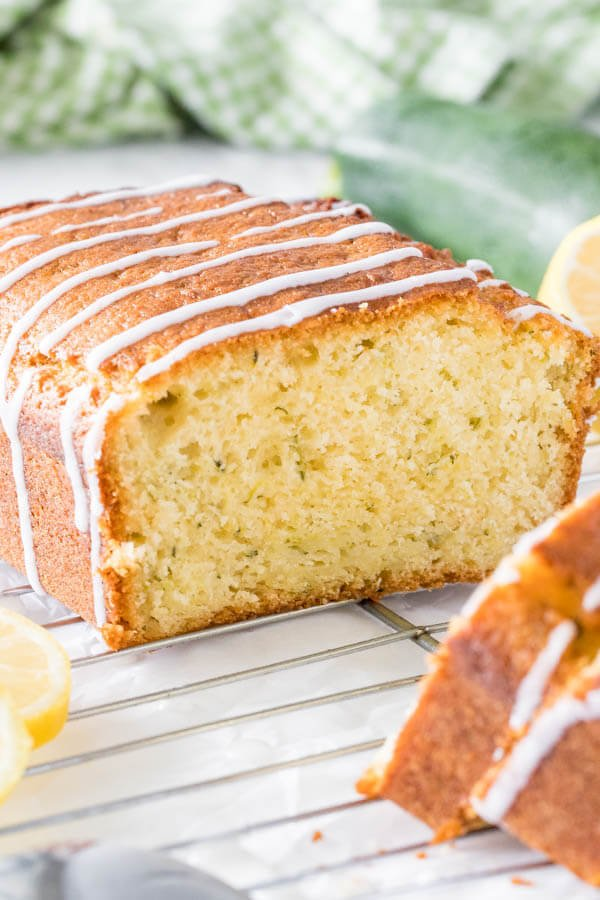 Glazed lemon zucchini bread is moist and tender with a delicious lemon flavor.