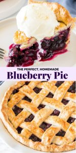 Today I'm showing you how to make classic, homemade blueberry pie. The filling is sweet, juicy, and full of plump blueberries. Make it when fresh blueberries are in season for the perfect summertime pie! I've also included tips on how to make it with frozen berries. AND how to turn this easy recipe into blueberry crumble pie. #blueberrypie #pies #summerpie #summerdesserts #desserts #blueberries #berries