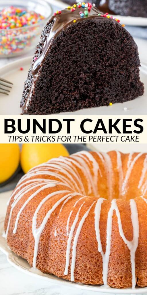 Today I'm sharing all my tips and tricks for making the perfect bundt cake - including the dreaded task of how to get your bundt cake out of the pan, and common pitfalls.#bundtcake #cake #bakingtips #guides #baking #advice #bundt #recipe