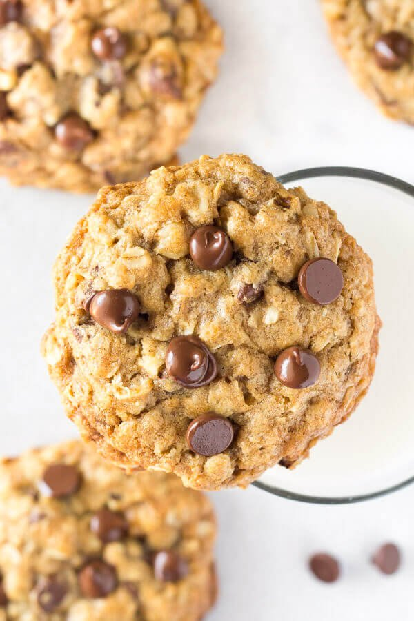 A chewy oatmeal chocolate chip cookie made with old-fashioned oats.