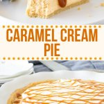 The perfect pie for caramel lovers - this delicious caramel cream pie has a silky, smooth no-bake filling with a crunchy Golden Oreo crust and whipped cream on top.It's cold, creamy and the perfect caramel dessert for summer! #nobake #caramel #pie #caramelcream #nobake #pie #recipe #summer #dessert #recipe from Just So Tasty