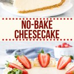This easy no-bake cheesecake is smooth and creamy with a graham cracker crust. It has all the flavor of a traditional cheesecake but with way less effort.  #nobake #cheesecake #easy #simple #grahamcracker #grahamcrumb #summer #recipe #dessert from Just so Tasty