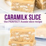 This easy, no-bake Caramilk Slice is sweet and chewy with a delicious caramel white chocolate flavor. If you're a fan of the Cadbury chocolate bar - then this is the perfect slice recipe.