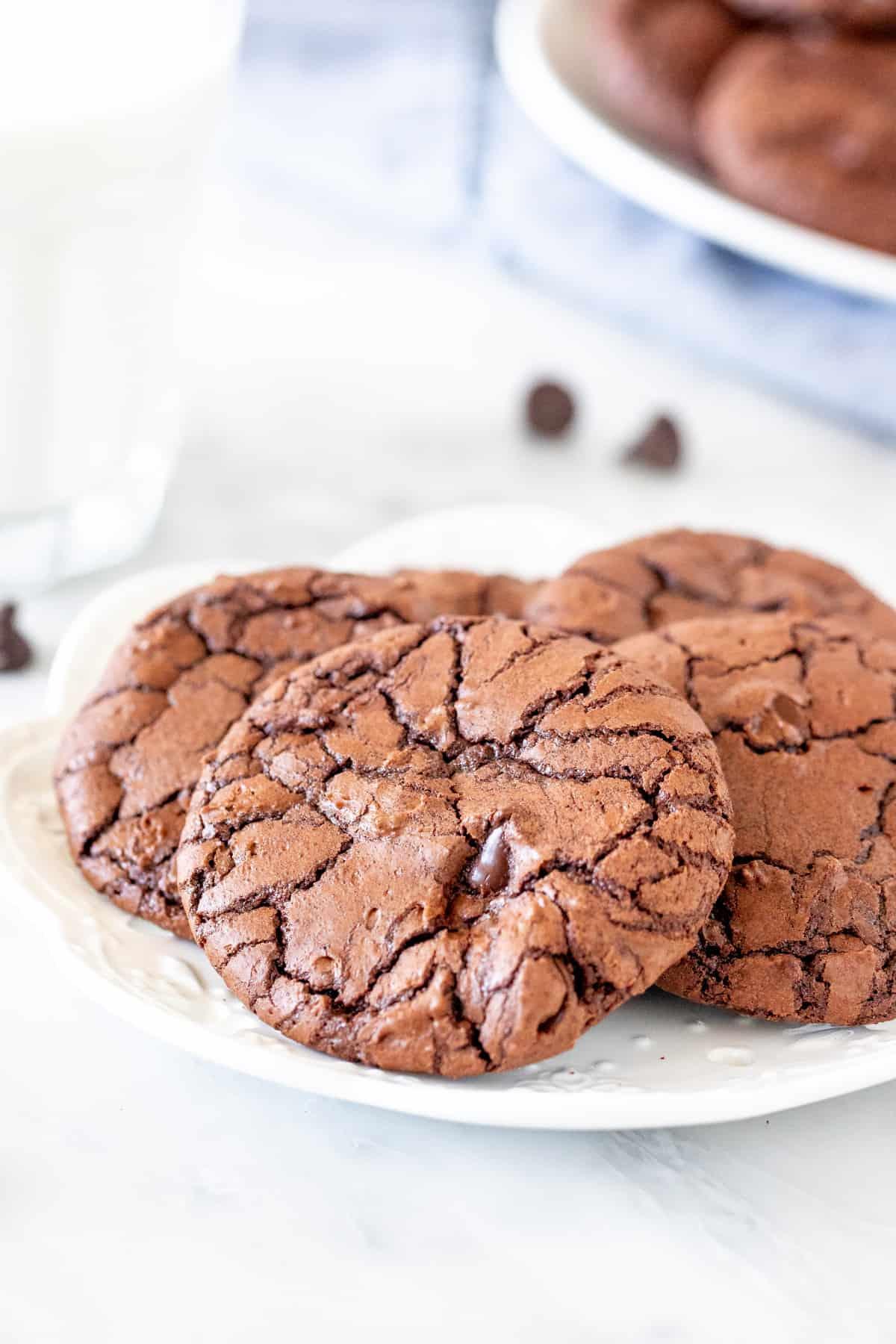 Plate of brownie cookies