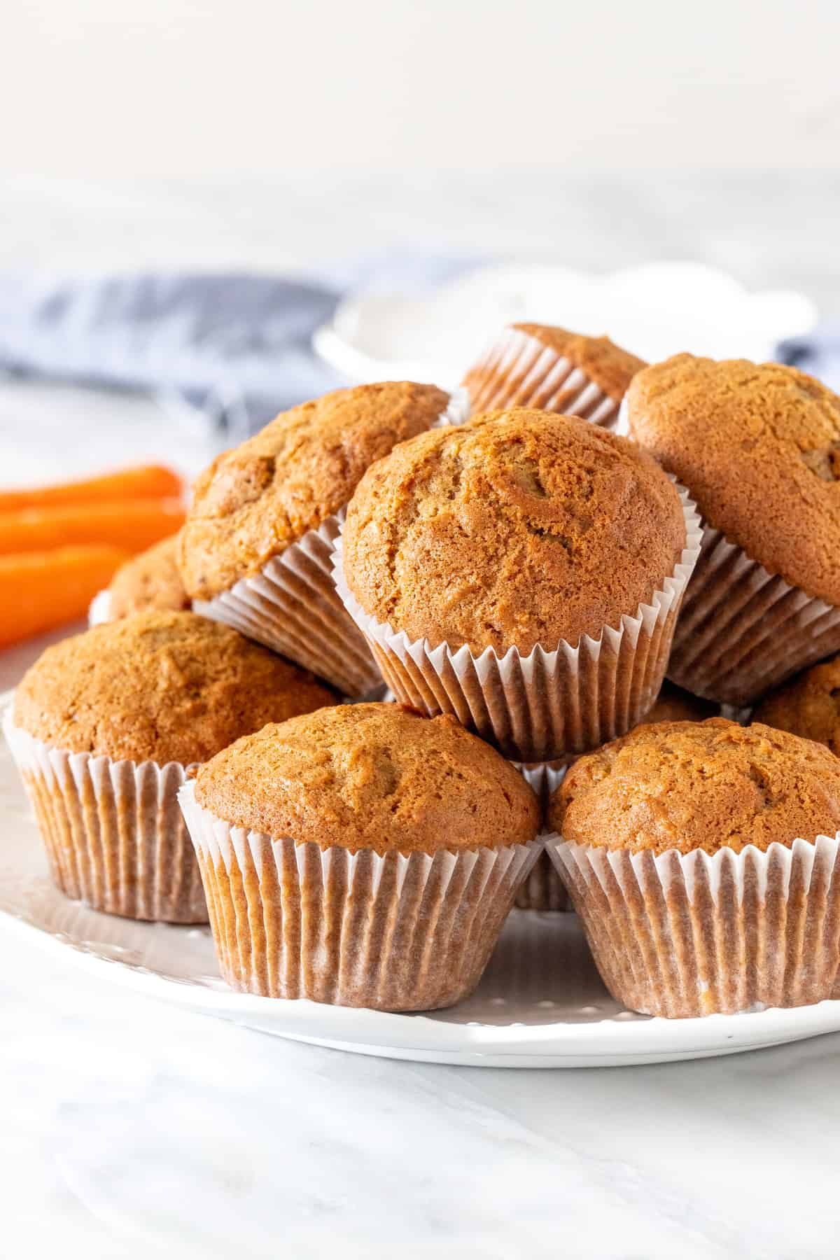 Plate of carrot muffins
