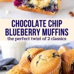 Chocolate Chip Blueberry Muffins